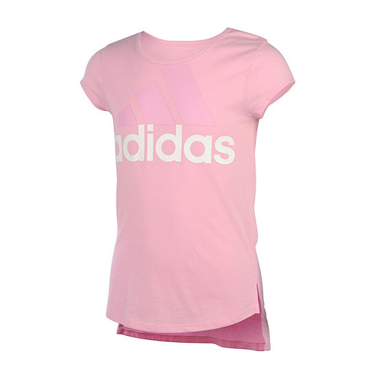 adidas Girls Round Neck Short Sleeve Graphic T-Shirt Preschool