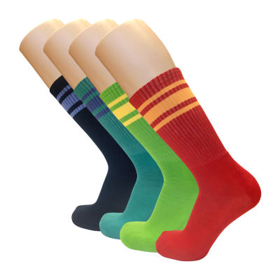 4 Pair Crew Socks-Mens