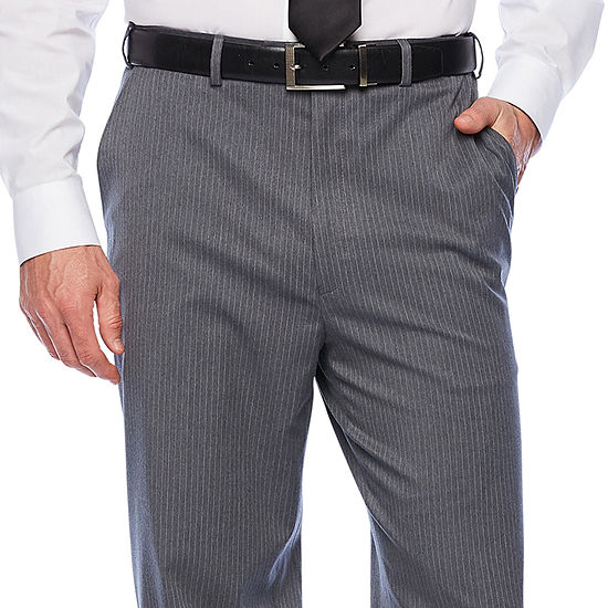 IZOD® Gray Striped Flat-Front Suit Pants