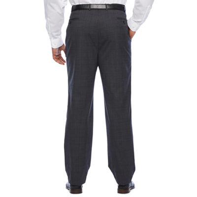 Claiborne Windowpane Classic Fit Stretch Suit Pants - Big and Tall