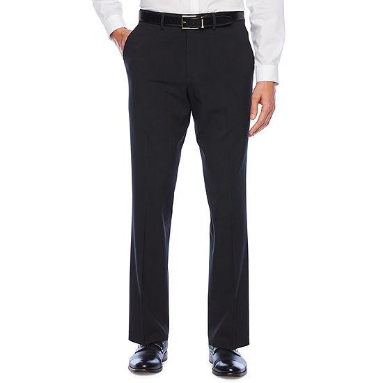 JF J.Ferrar Mens Mid Rise Slim Fit Flat Front Pant