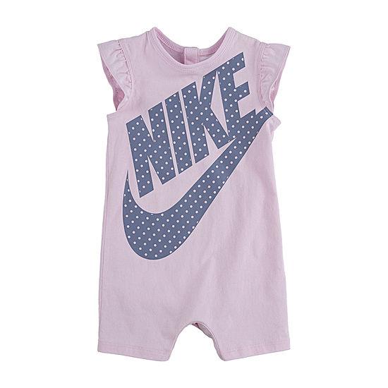Nike Girls Short Sleeve Romper - Baby