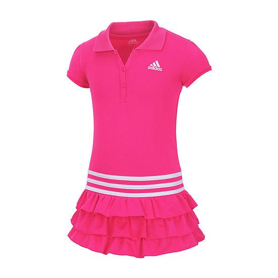 adidas Tennis Girls Short Sleeve - Preschool Shirt Dress