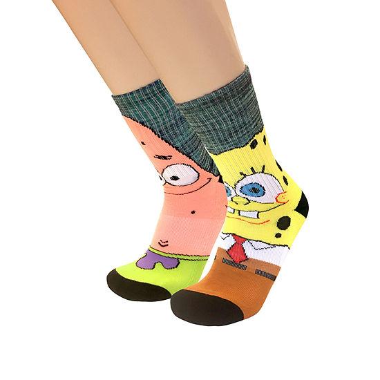 Nickelodeon 1 Pair Spongebob Crew Socks-Mens