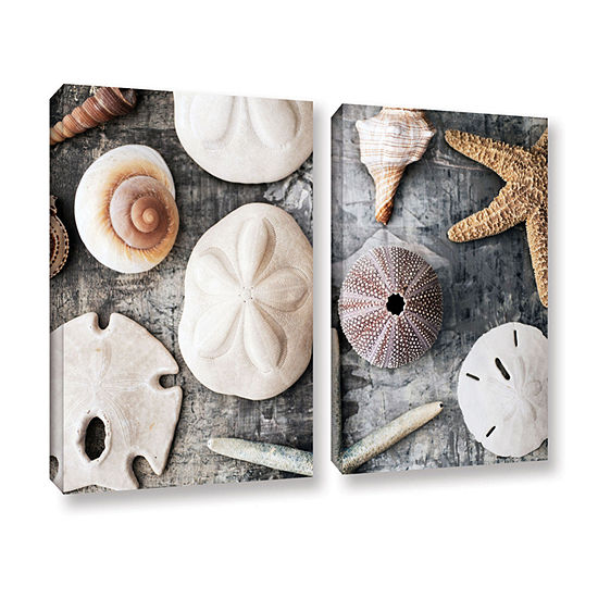 Brushstone Treasures From The Sea 2-pc. Gallery Wrapped Canvas Wall Art