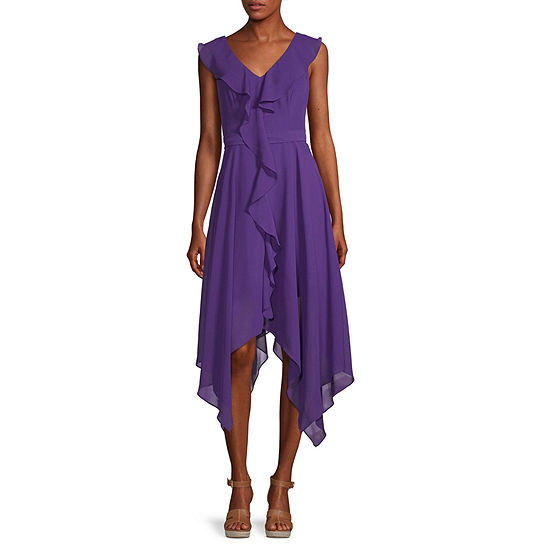 Premier Amour Sleeveless High-Low Fit & Flare Dress