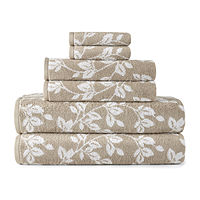 JCPenney deals on JCPenney Home Leaf 6pc Towel Set