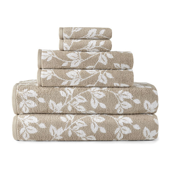 JCPenney Home Leaf 6pc Towel Set