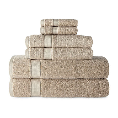 JCPenney Home Performance Bath Towel Collection, One Size , Beige