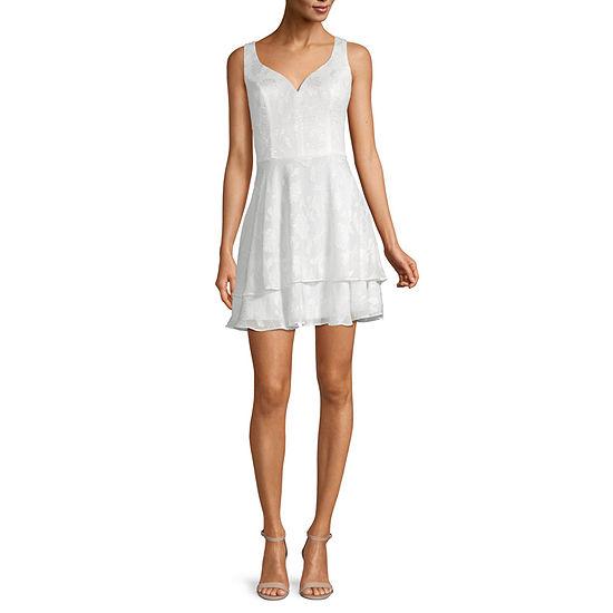 B. Smart-Juniors Sleeveless Jacquard Fit & Flare Dress