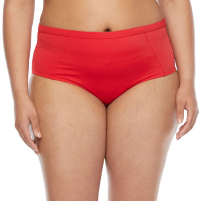 Peyton & Parker Womens High Waist Bikini Swimsuit Bottom Plus