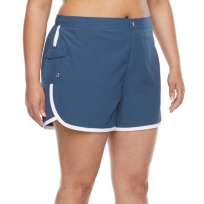 Free Country Womens Swim Shorts Plus
