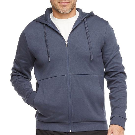 Stylus Mens Full Zip Long Sleeve Fleece Hoodie