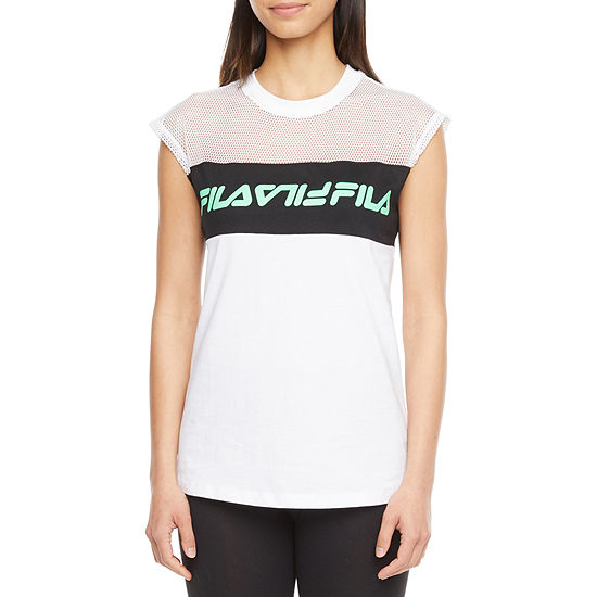 Fila Play Date Top Womens Crew Neck Short Sleeve T-Shirt