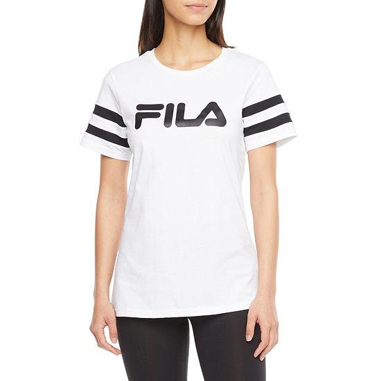 Fila Throwback Tee Womens Crew Neck Short Sleeve T-Shirt