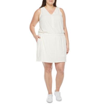 Stylus Bike Short Sleeveless A-Line Dress Plus