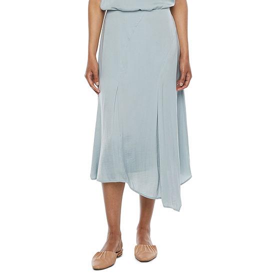 Ryegrass Womens High Low Asymmetrical Skirt