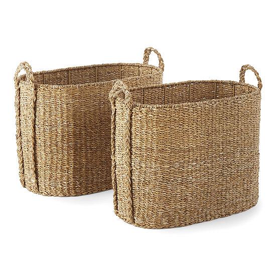 Linden Street Oval Decorative Basket
