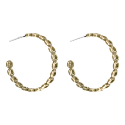 """dom by dominique cohen 2"""" Gold-Tone Honeycomb Hoop Earrings"""