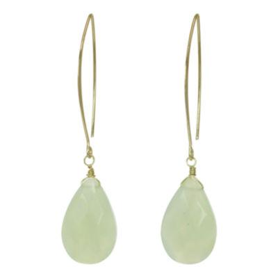 ROX by Alexa Green Glass Teardrop Earrings