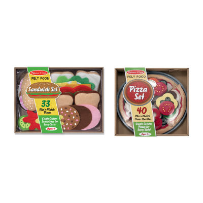 Melissa & Doug® Felt Food Sandwich and Pizza Set