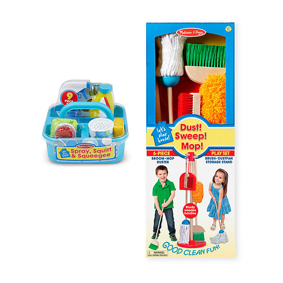 Melissa & Doug® Let's Play House! Dust, Sweep, Mop, Squeegee Playset Bundle