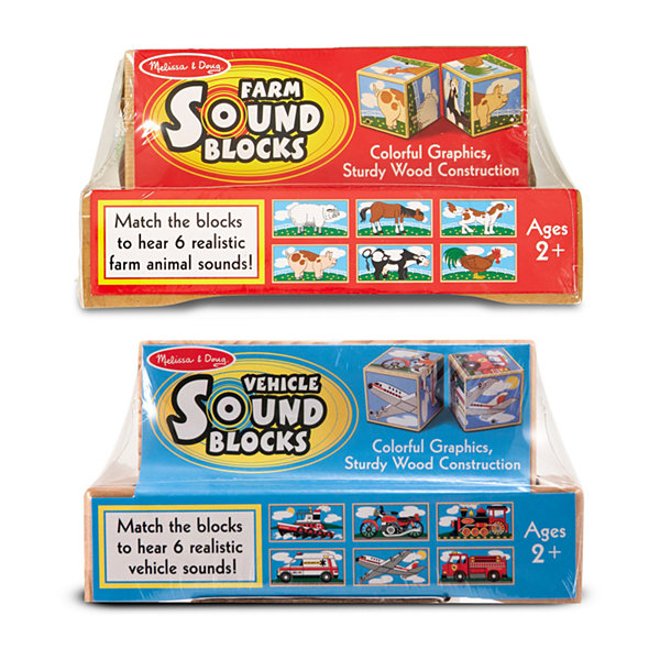 Melissa & Doug®Wood Sound Blocks Bundle: Farm & Vehicle