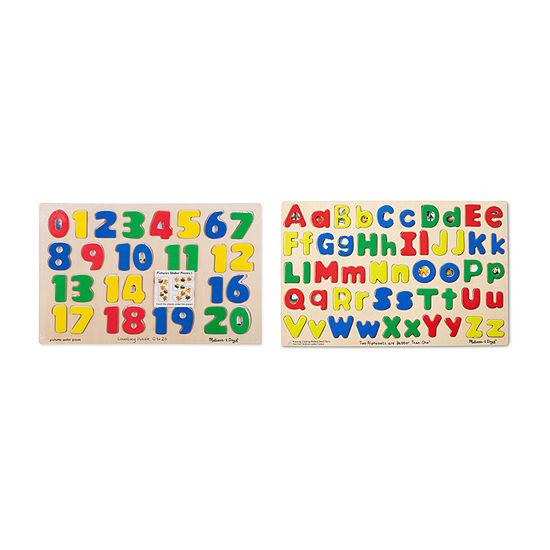 Melissa & Doug®Alphabet & Numbers Puzzle Set