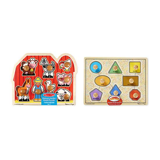 Melissa & Doug Jumbo Knob Puzzle Bundle #1