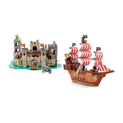 Melissa & Doug®3D Puzzle Bundle - Pirate Ship and Castle