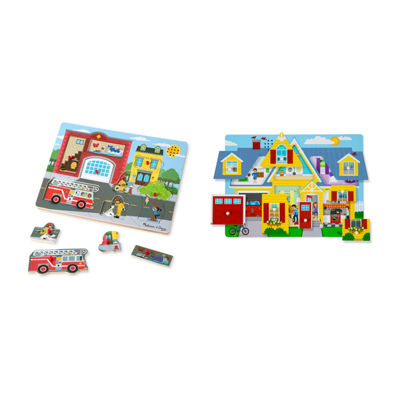 Melissa & Doug®Sound Puzzle Bundle (Around the House and Fire Station)