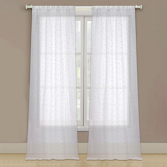 Bella Valenti Marquee Sheer Rod-Pocket Curtain Panel