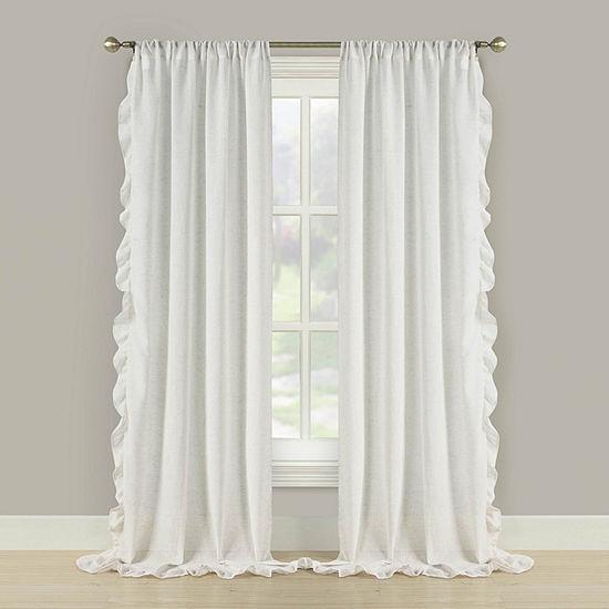 Bella Valenti Prairie Multi Pack Light Filtering Rod Pocket Curtain Panel