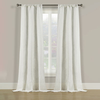Pearl Stitch 2-Pack Rod-Pocket Curtain Panel
