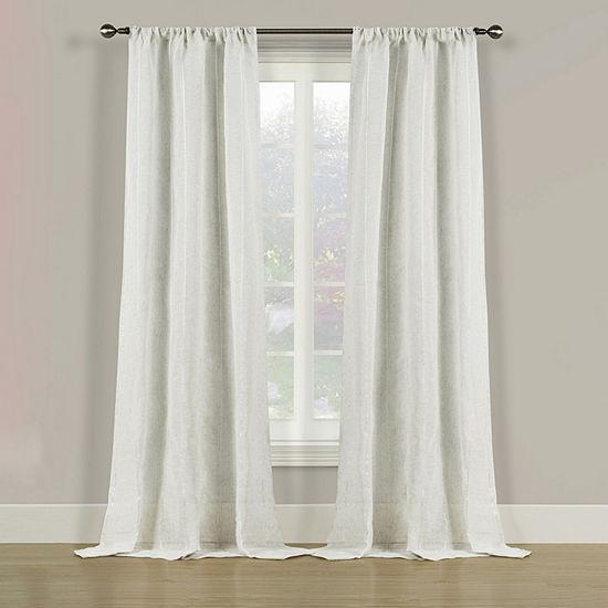 Bella Valenti Pearl Stitch Semi-Sheer Rod-Pocket Curtain Panel