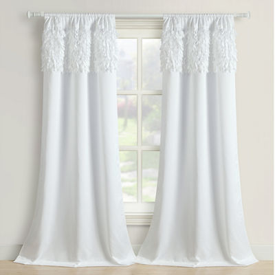 Walden Leaves 2-Pack Rod-Pocket Curtain Panel