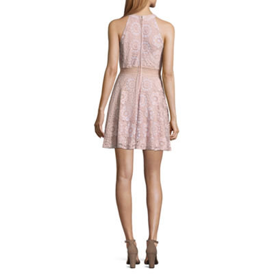 City Triangle Sleeveless Medallion A-Line Dress-Juniors