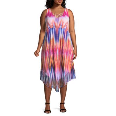 One World Apparel Sleeveless Party Dress-Plus