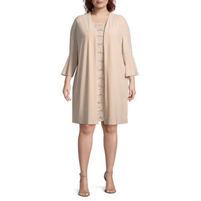 Scarlett 3/4 Sleeve Jacket Dress - Plus