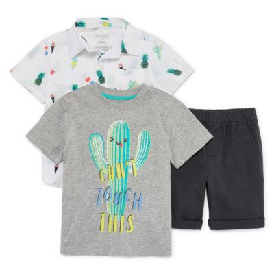 Okie Dokie 3-pc. Short Set Toddler Boys