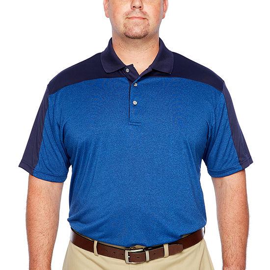 PGA TOUR Big and Tall Mens Y Neck Short Sleeve Polo Shirt