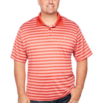 IZOD Ace Feeder Stripe Polo Short Sleeve Stripe Knit Polo Shirt Big and Tall