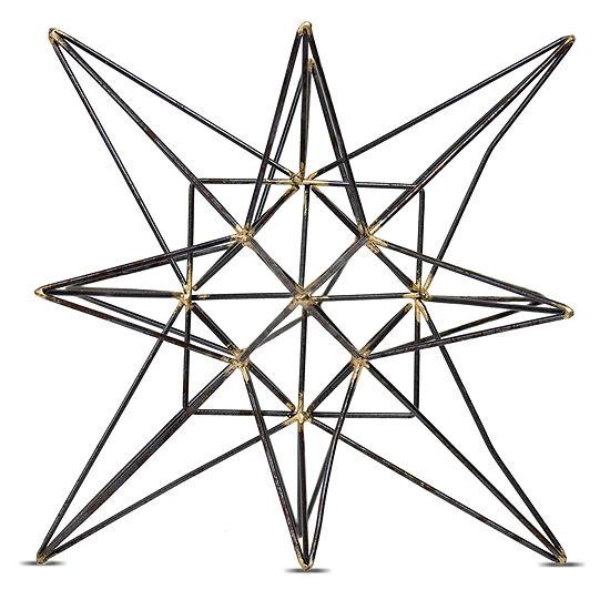 Metal Star Sculpture Figurine Room Decor