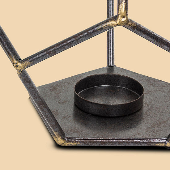Geometric Hexagon Metal Candle Holder