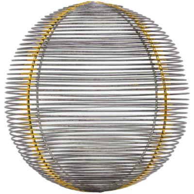 Metal Wire Sphere Sculpture Figurine Décor