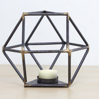 Geometric Metal Candle Holder