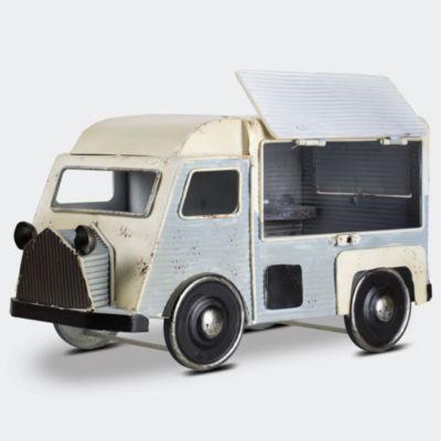Metal Van Trailer Table Top Vintage Farmhouse Decor