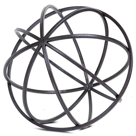 Metal Orb Dyson Sphere Sculpture Figurine