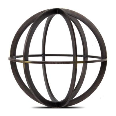 Metal Orb Dyson Sphere Figurine Sculpture
