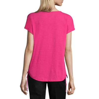 St. John's Bay Active Tunic Top-Petite